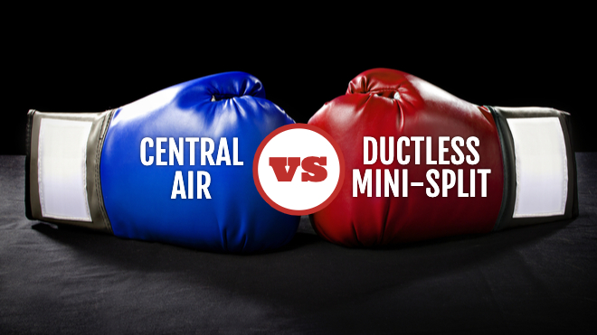 Air Conditioning Showdown: Central Air vs. Ductless Mini-Split
